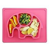 Baby Tischset,Silikon Rutschfester Baby Teller für Baby Kleinkind und Kinder,kinderteller...